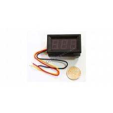 "3-DIGIT RED LED 0.56"" DIGITAL VOLTMETER, 3 WIRE BOX, 0-200VDC"