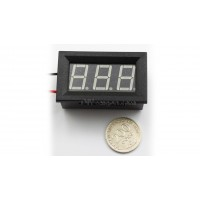 "3-DIGIT RED LED 0.56"" DIGITAL VOLTMETER, TWO WIRE BOX"