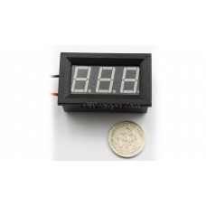 "3-DIGIT GREEN LED 0.56"" DIGITAL VOLTMETER, TWO WIRE BOX"