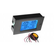 AC 100A LCD VOLT / WATT / CURRENT POWER / KWh MULTIMETER