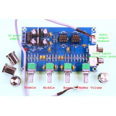 NE5532 Stereo Preamplifier / Tone Audio Amplifier Board