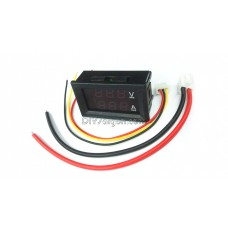 DIGITAL VOLTAGE AND CURRENT DC METER (100V-10A) / DUAL ROWS LED DISPLAY / FINE-TUNING FUNCTION