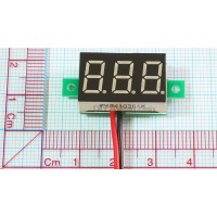 """3-DIGIT RED LED 0.36"""" DIGITAL VOLTMETER , WITH FINE-TUNING"""