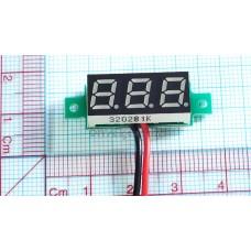 "MINI 3-DIGIT RED LED 0.28"" DIGITAL VOLTMETER"