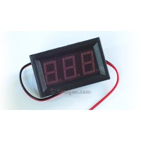 """3-DIGIT RED LED 0.56"""" DIGITAL VOLTMETER, TWO WIRE BOX, 5-120VDC, WITH FINE-TUNING"""