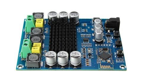 DUAL CHANNEL 120W DIGITAL AMPLIFIER BOARD TPA3116D2 / BLUETOOTH 4.0 AUDIO INTERFACE