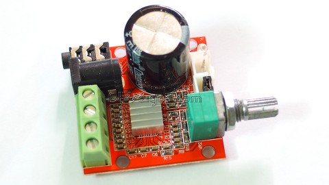 PAM8610 MINI AMPLIFIER BOARD 2.0 (12V 10Wx2) /  PURE CLASS D STEREO AMPLIFIER